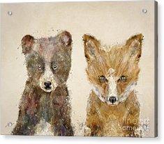 The Little Bear And Little Fox Acrylic Print by Bri B