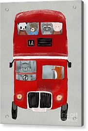 The Little Big Red Bus Acrylic Print
