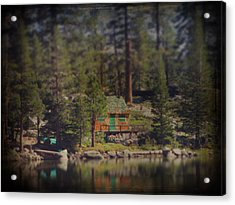 The Little Cabin Acrylic Print by Laurie Search