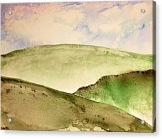 Acrylic Print featuring the painting The Little Hills Rejoice by Antonio Romero