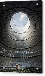 Acrylic Print featuring the photograph The Little House Inside The Cooling Tower by Dirk Ercken