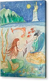 The Little Mermaid Acrylic Print