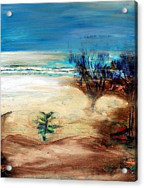 Acrylic Print featuring the painting The Little Pine Tree by Winsome Gunning