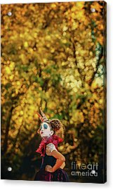 Acrylic Print featuring the photograph The Little Queen Of Hearts Alice In Wonderland by Dimitar Hristov