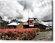 The Little Red Grape Winery   Acrylic Print by Douglas Barnard