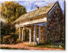 The Little Stone House In September Acrylic Print by Lois Bryan