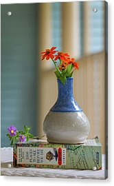 Acrylic Print featuring the photograph The Little Vase by Cindy Lark Hartman