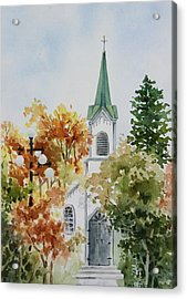 The Little White Church Acrylic Print by Bobbi Price