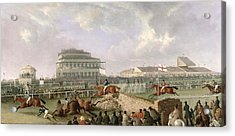The Liverpool And National Steeplechase At Aintree Acrylic Print by William Tasker