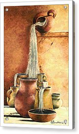 The Living Water Acrylic Print by Denise Armstrong
