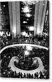 The Lobby Of The Metropolitan Opera Acrylic Print by Everett