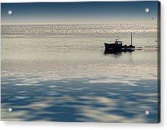 The Lobster Boat Acrylic Print by Rick Berk