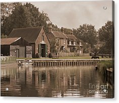 The Lock Keeper's Cottage Acrylic Print by Terri Waters