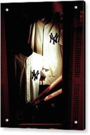The Locker  Mickey Mantle's And Joe Dimaggio's Locker Acrylic Print