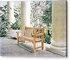 The Loggia At The Virginia Steele Scott Galleriy Of American Acrylic Print