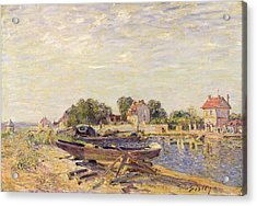 The Loing At Saint Mammes 1885 Acrylic Print by Alfred Sisley