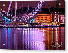 The London Eye Acrylic Print by Donald Davis