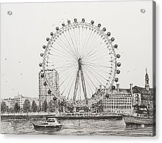 The London Eye Acrylic Print by Vincent Alexander Booth