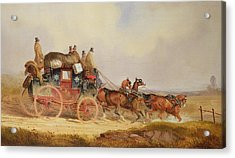The London To Louth Royal Mail Acrylic Print by Charles Cooper Henderson