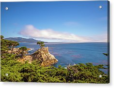 Acrylic Print featuring the photograph The Lone Cypress Pebble Beach by Scott McGuire
