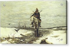The Lone Hunter Acrylic Print by Jozef Brandt