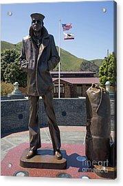 The Lone Sailor Memorial At The San Francisco Golden Gate Bridge Dsc6152 Acrylic Print
