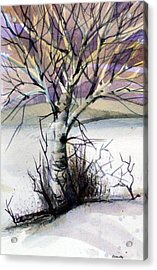 The Lone Tree Acrylic Print by Mindy Newman