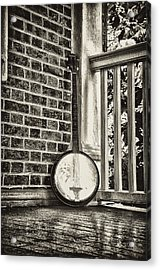 The Lonely Banjo Acrylic Print by Bill Cannon