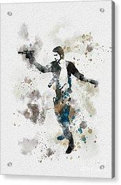 The Loner Acrylic Print by Rebecca Jenkins
