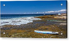 The Long Board Acrylic Print by Peter Tellone