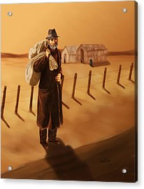 Acrylic Print featuring the painting The Long Journey by Sena Wilson