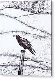 The Long Long Winter Acrylic Print by Anna  Duyunova