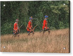 The Long March To Fort Pitt  Acrylic Print by Randy Steele