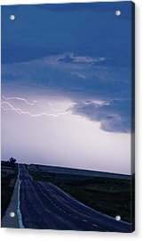 The Long Road Into The Storm Acrylic Print