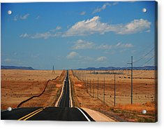 The Long Road To Santa Fe Acrylic Print by Susanne Van Hulst
