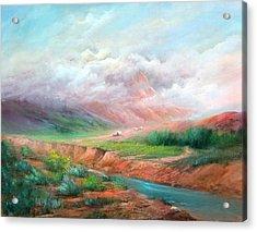 The Long Trail Acrylic Print by Sally Seago