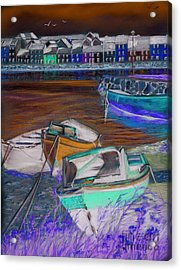 The Long Walk Galway As Viewed From The Claddagh Acrylic Print by Vanda Luddy