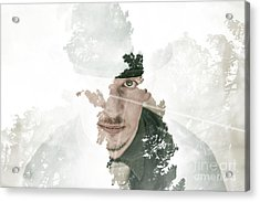 The Looking Glass Forest Man Acrylic Print