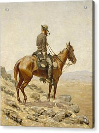 The Lookout Acrylic Print by Frederic Remington