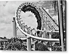The Loop Black And White Acrylic Print