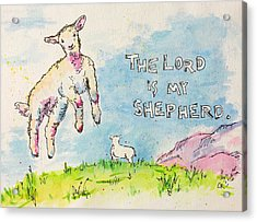 Acrylic Print featuring the painting The Lord Is My Shepherd by Chris Rice