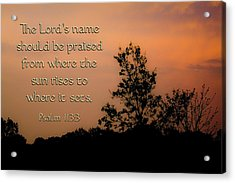 The Lord's Name Acrylic Print