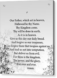 The Lord's Prayer Acrylic Print
