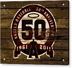 The Los Angeles Angels Of Anaheim 50 Years Of Angels Baseball 2a Acrylic Print