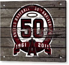 The Los Angeles Angels Of Anaheim 50 Years Of Angels Baseball Acrylic Print