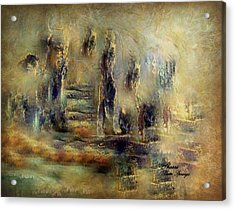 Acrylic Print featuring the painting The Lost City By Sherriofpalmsprings by Sherri  Of Palm Springs