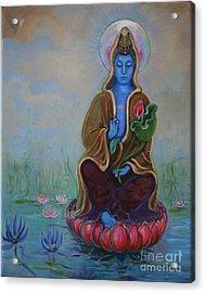 The Lotus Seed Acrylic Print by Catherine Moore