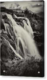 Acrylic Print featuring the photograph The Loup Of Fintry In Black And White by Jeremy Lavender Photography