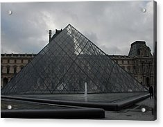 Acrylic Print featuring the photograph The Louvre And I.m. Pei by Christopher Kirby