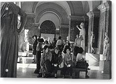 The Louvre Acrylic Print by Andrea Simon